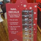 SANTA NAIL DECALS CHRISTMAS ON SILVER BACKGROUND DESIGN HOLIDAY OCCASION NEW GANZ EASY FITS ALL