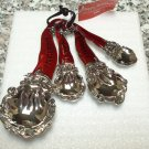 XMAS MEASURING SPOONS SET SANTAS HEAVY ZINC NEW GANZ