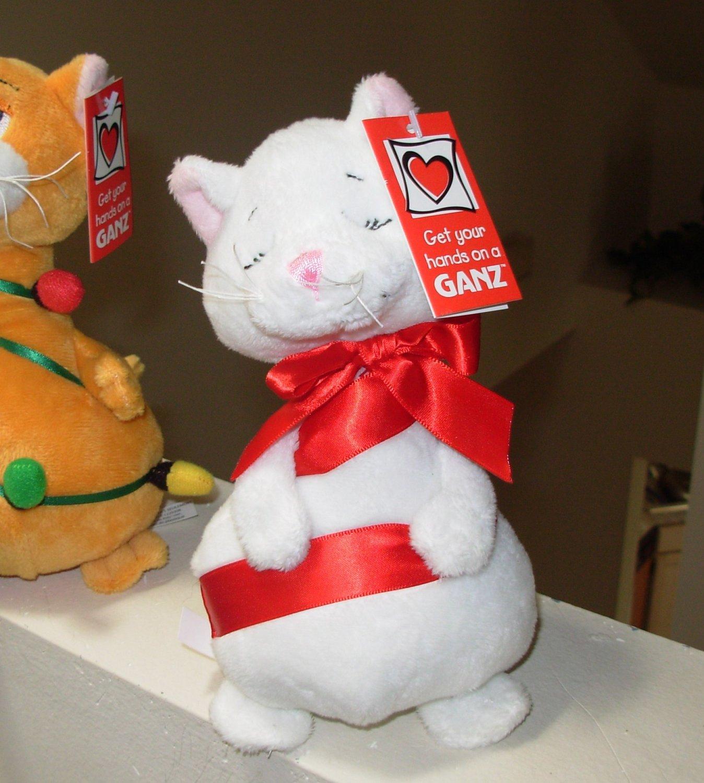 TANGLED CATS NEW GANZ WHITE PLUSH STUFFED ANIMAL KITTY CAT