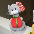 TANGLED CATS GRAY KITTY WITH A GIFT PACKAGE NEW GANZ PLUSH STUFFED ANIMAL KITTY CAT
