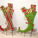 PAIR OF GARDEN SKATES CHRISTMAS HOME OUTDOOR DECOR NEW GANZ