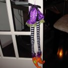 HANGING WITCH LEGS ORNAMENT ORANGE BLACK GREEN PURPLE HALLOWEEN HOME DECOR NEW GANZ