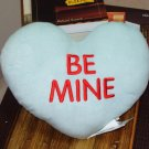HEART PILLOW 10 INCH SAYS BE MINE SEAFOAM GREEN  PLUSH NEW GANZ HOME DECOR GIFT