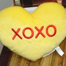 HEART PILLOW 10 INCH SAYS XOXO SEAFOAM GREEN  PLUSH NEW GANZ HOME DECOR GIFT