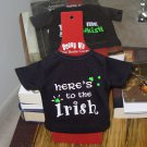 IRISH SASSY TEES WINE BOTTLE COVERS SAYS HERES TO THE IRISH NEW GANZ BAR HOME GIFT