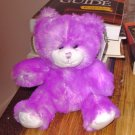 PRIMROSE BEAR PURPLE PLUSH STUFFED ANIMAL NEW GANZ TEDDY BEAR