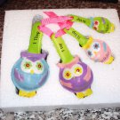 OWL MEASURING SPOON SET CERAMIC NEW GANZ KITCHEN HOME DECOR FUNCTIONAL