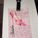 FABULOUS SHOES LUGGAGE TAG NEW GANZ PRETTY IN PINK