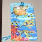 3D LUGGAGE TAG SEA TURTLES FISH PVC NEW GANZ TRIP TRAVEL VACATION NOVELTY