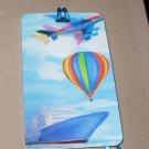 3D LUGGAGE TAG AIRPLANE HOT AIR BALLOON CRUISE SHIP PVC NEW GANZ TRIP TRAVEL VACATION NOVELTY