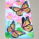 3D LUGGAGE TAG BUTTERFLYS AND FLOWERS PVC NEW GANZ TRIP TRAVEL VACATION NOVELTY