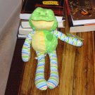 SOFTIES BABY GANZ LITTLE GREEN AND YELLOW FROG PLUSH STUFFED ANIMAL 11.5 INCH
