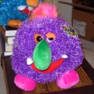 BOOGITY BOOS LAZY EYE STUFFED PLUSH SOUND TOY NEW GANZ PURPLE