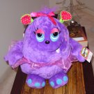 LARGE OOGARELLA SHIRLEY PURPLE 10 INCH PLUSH STUFFED OGRE DOLL NEW GANZ