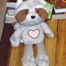 HEARTLAND RACCOON PLUSH STUFFED ANIMAL NEW GANZ HEART ON CHEST