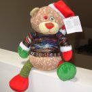JOLLY FOLLIES BEAR PLUSH STUFFED ANIMAL IN WRAPPED YARN SWEATER NEW GANZ CHRISTMAS