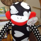 SOCK MONKEY LOOK A LIKES IN STITCHES PLUSH STUFFED ANIMAL NEW GANZ TOY