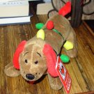 DIGGER CHRISTMAS HOLIDAY PLUSH STUFFED ANIMAL TANGLES IN LIGHTS NEW GANZ DACHSHUND