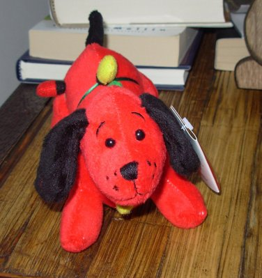 RED DIGGER CHRISTMAS HOLIDAY PLUSH STUFFED ANIMAL TANGLES IN LIGHTS NEW GANZ DACHSHUND