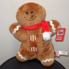 GINGERBREAD DOLL NEW GANZ PLUSH STUFFED DOLL CHRISTMAS HOLIDAY TOY NEW