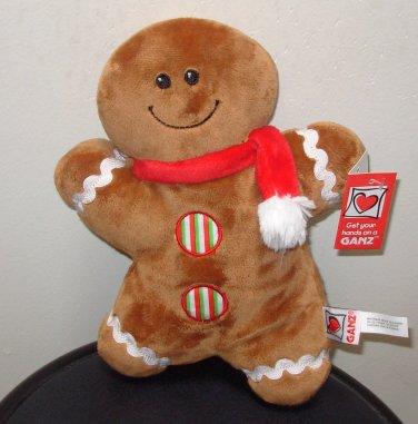 GINGERBREAD DOLL NEW GANZ PLUSH STUFFED DOLL CHRISTMAS HOLIDAY TOY NEW