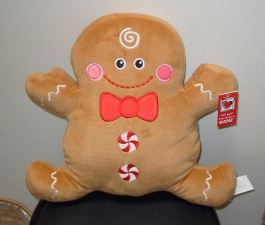 GINGERBREAD PILLOW DOLL NEW GANZ PLUSH STUFFED DOLL CHRISTMAS HOLIDAY TOY NEW