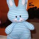 STRIPED BUNNY RABBIT STANDING BLUE AND WHITE PLUSH STUFFED ANIMAL NEW GANZ