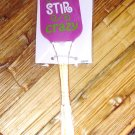 SILICONE SPATULA I'M GOING STIR CRAZY DISHWASHER SAFE NEW GANZ KITCHEN