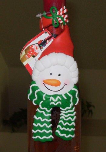 SNOWMAN WINE LIQUOR BOTTLE COLLAR CHRISTMAS NEW GANZ HOLIDAY GIFT