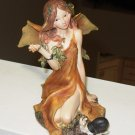 AUTUMN FAIRY FIGURINE POLYSTONE NEW GANZ HOME DECOR 4.5 INCH TALL AUTUMN COLORS
