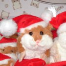 MERRY CHRISTMAS LIL HAMSTER PLUSH BROWN AND WHITE STUFFED ANIMAL TOY NEW GANZ