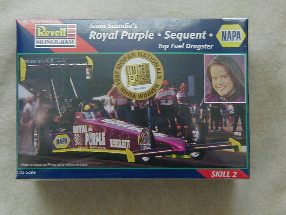 FACTORY SEALED Revell Team Scandia's Royal Purple Dragster  #85-0536 Ltd Edition