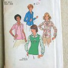 Vintage UNCUT 1976 Simplicity Blouse and Pullover Top  Pattern #7581 Size 20 1/2