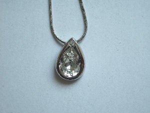 Original Design by William Wang Teardrop Swarovski Clear Crystal With Platinum Finish