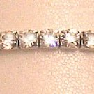 Swarovski Crystal Clear Aurora Borealis Toe Ring