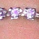 Swarovski Crystal Violet Toe Ring
