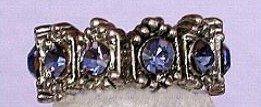 Swarovski Crystal Tanzanite Lace Ring