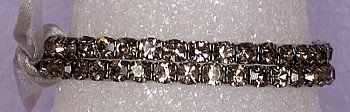 2 Strand Black Diamond Bracelet