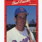 1990 Donruss Baseball #520 Chad Kreuter - Texas Rangers