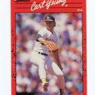 1990 Donruss Baseball #505 Curt Young - Oakland Athletics