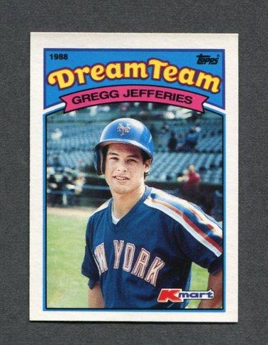1989 K-Mart Dream Team Baseball #11 Gregg Jefferies - New York Mets