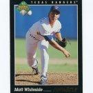 1993 Pinnacle Baseball #590 Matt Whiteside RC - Texas Rangers