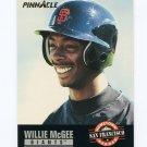 1993 Pinnacle Baseball #490 Willie McGee HH - San Francisco Giants