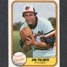 1981 Fleer Baseball #169 Jim Palmer - Baltimore Orioles VG