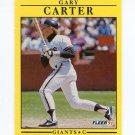 1991 Fleer Baseball #258 Gary Carter - San Francisco Giants