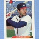 1992 Bowman Baseball #663 Mark Lemke - Atlanta Braves