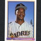 1991 Bowman Baseball #642 Tony Fernandez - San Diego Padres