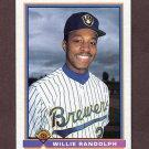 1991 Bowman Baseball #046 Willie Randolph - Milwaukee Brewers
