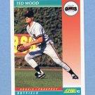 1992 Score Baseball #768 Ted Wood - San Francisco Giants