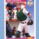 1992 Score Baseball #633 Terry Steinbach - Oakland Athletics